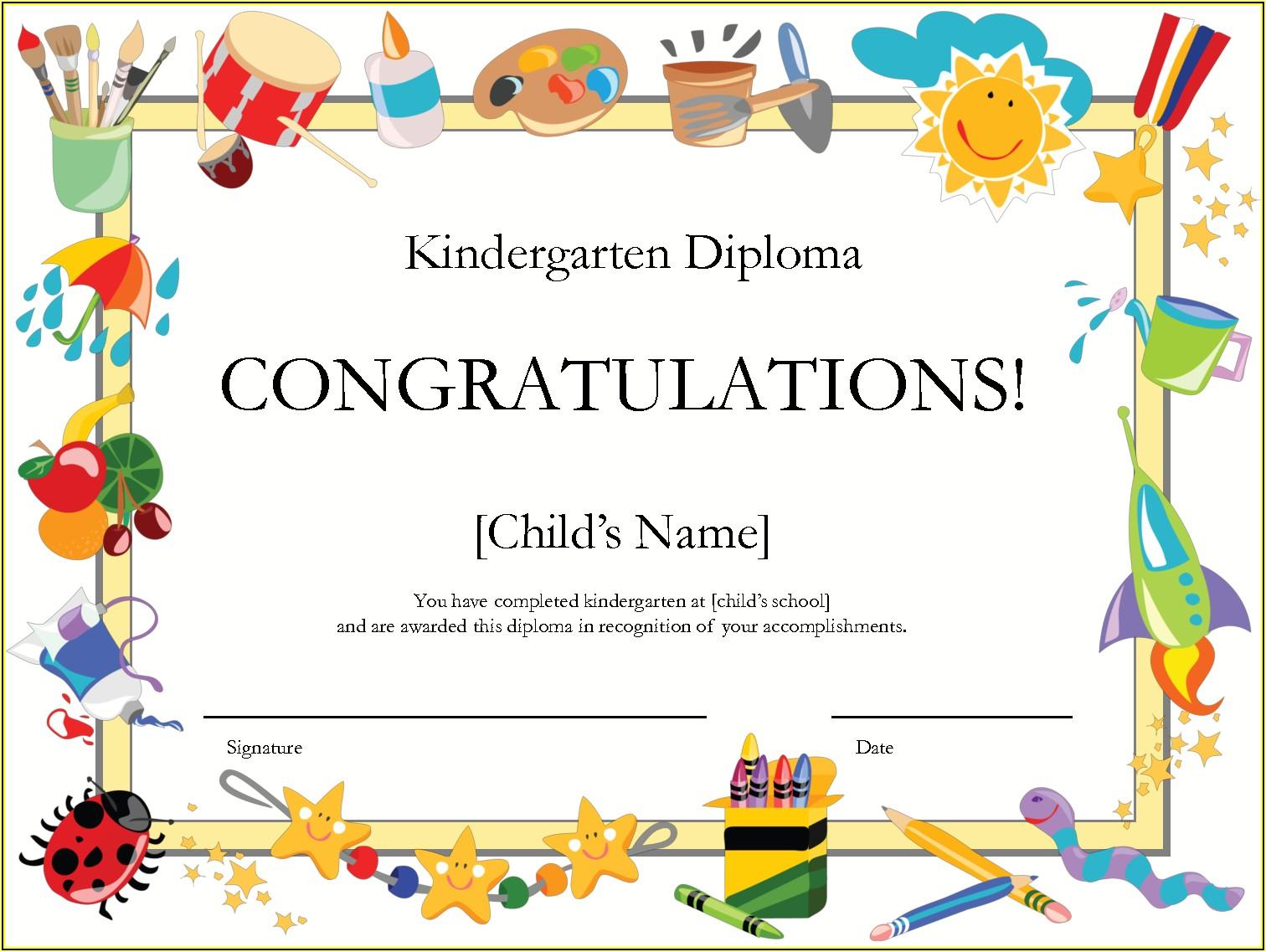 Graduation Certificate Template Free Download