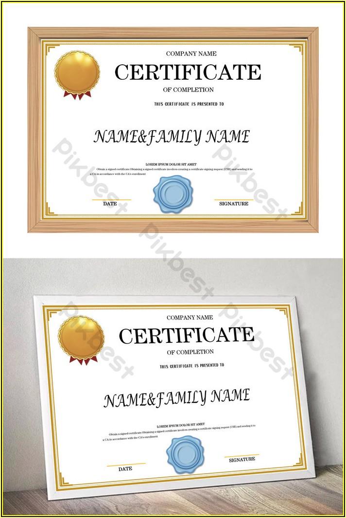 Graduation Certificate Template Word Free