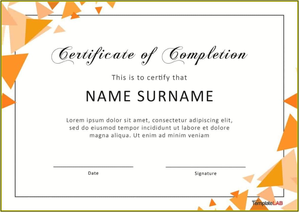 Graduation Certificate Templates Word