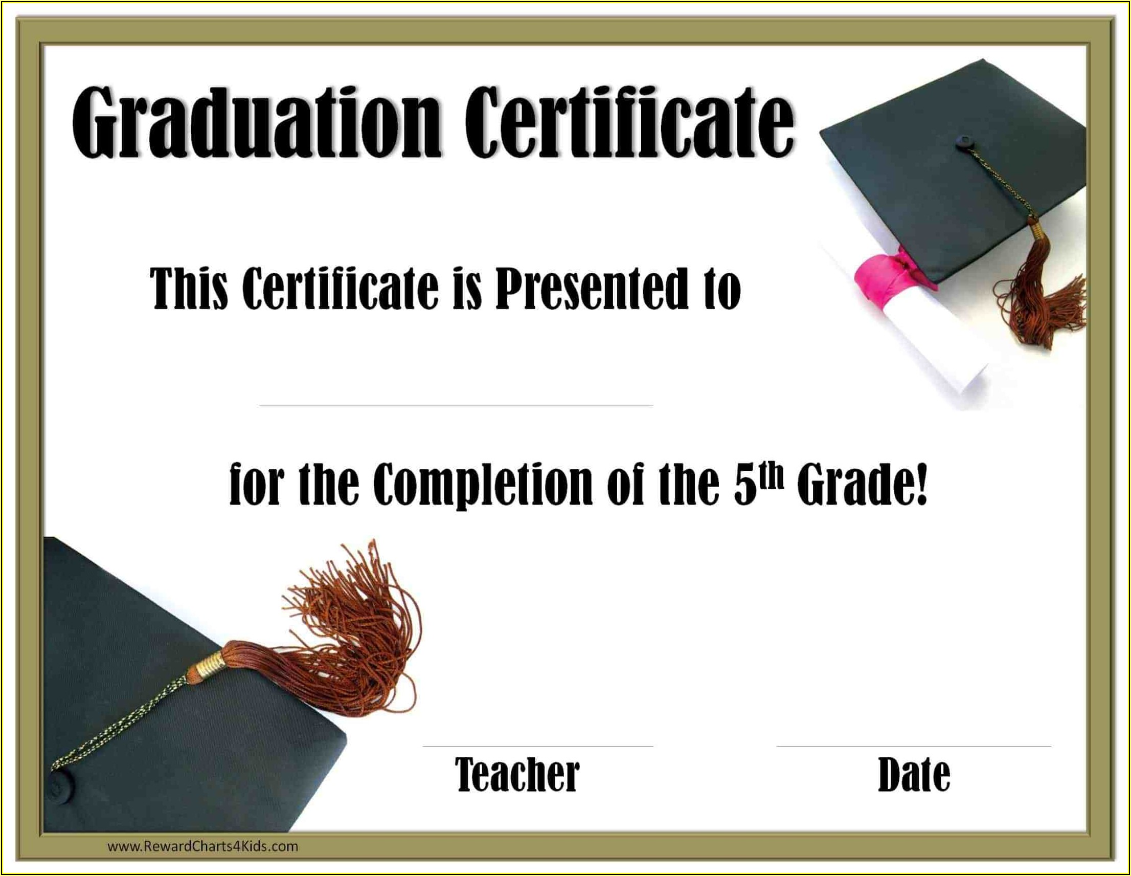 Graduation Certificates Templates Word