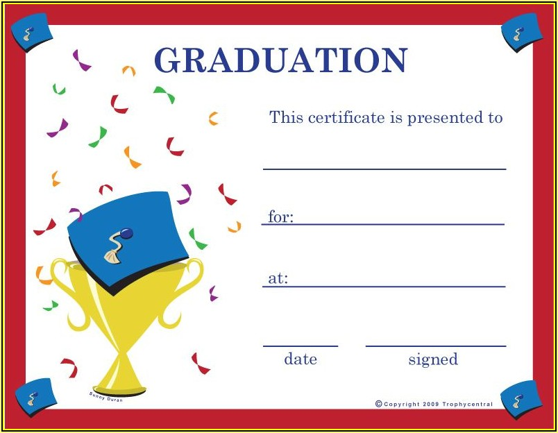 Graduation Certificates Templates