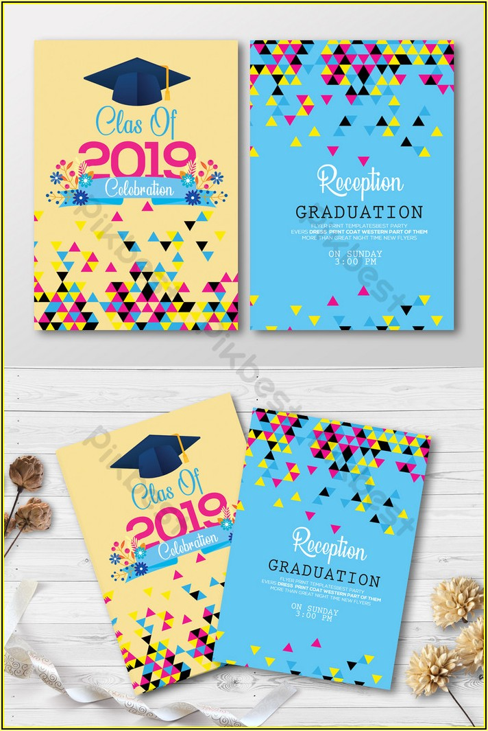 Graduation Invitation Templates Free Download Psd
