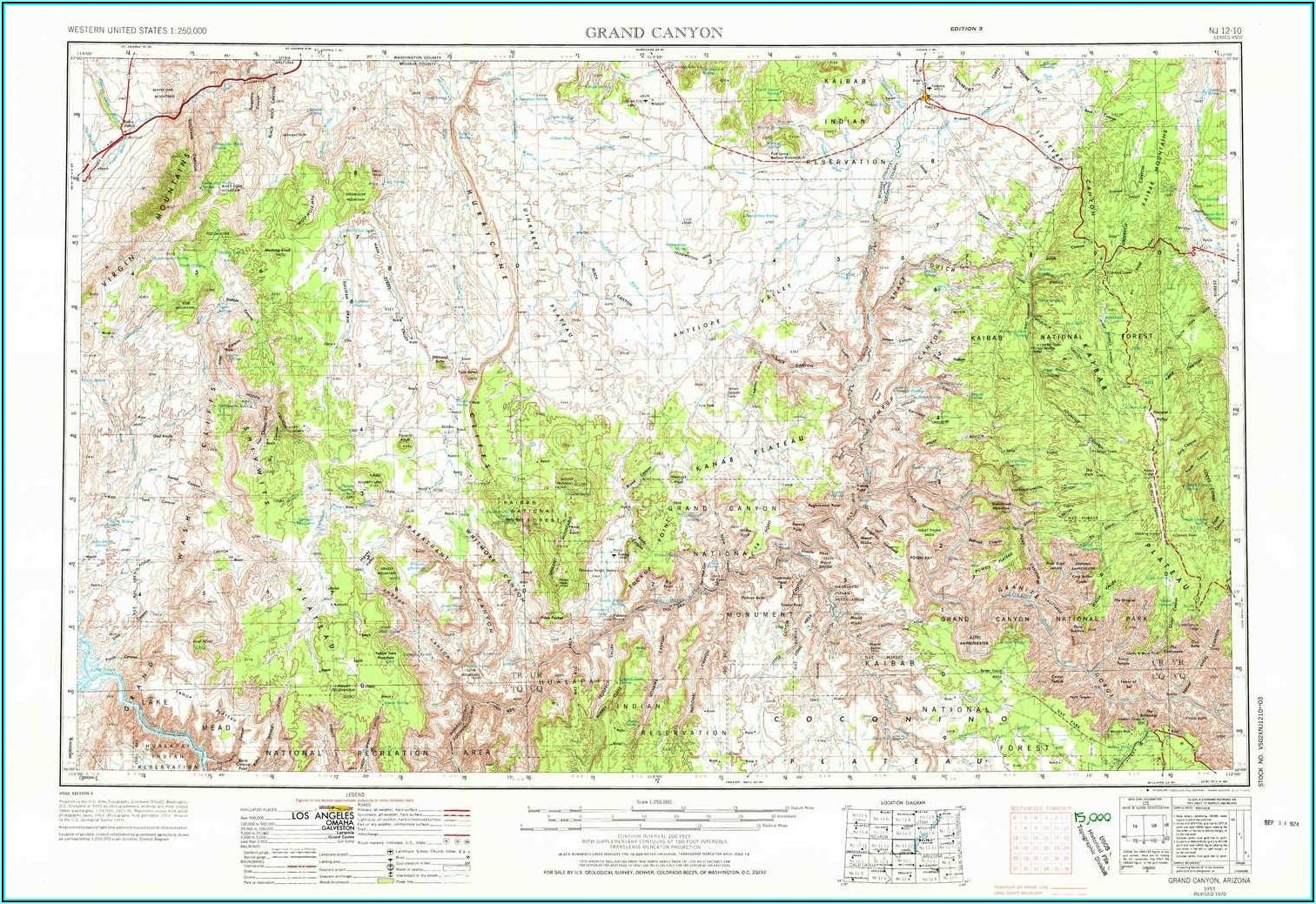 Grand Canyon Topo Map