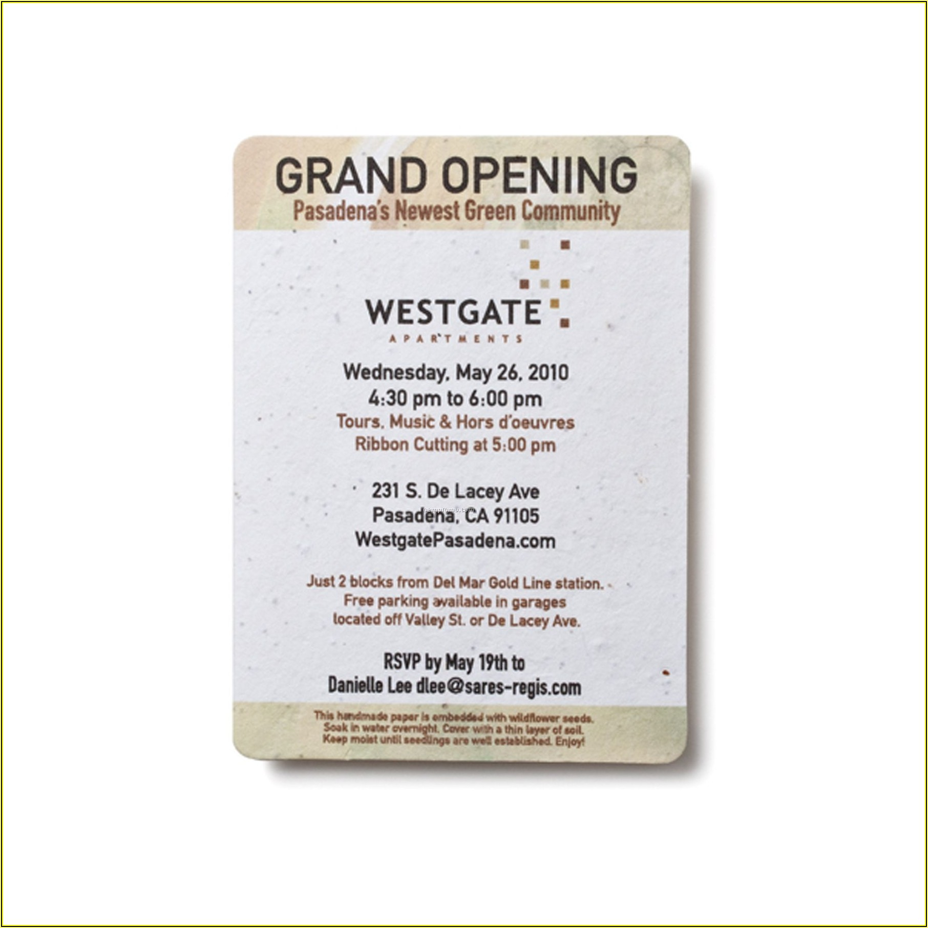 Grand Opening Invitation Sample Letter