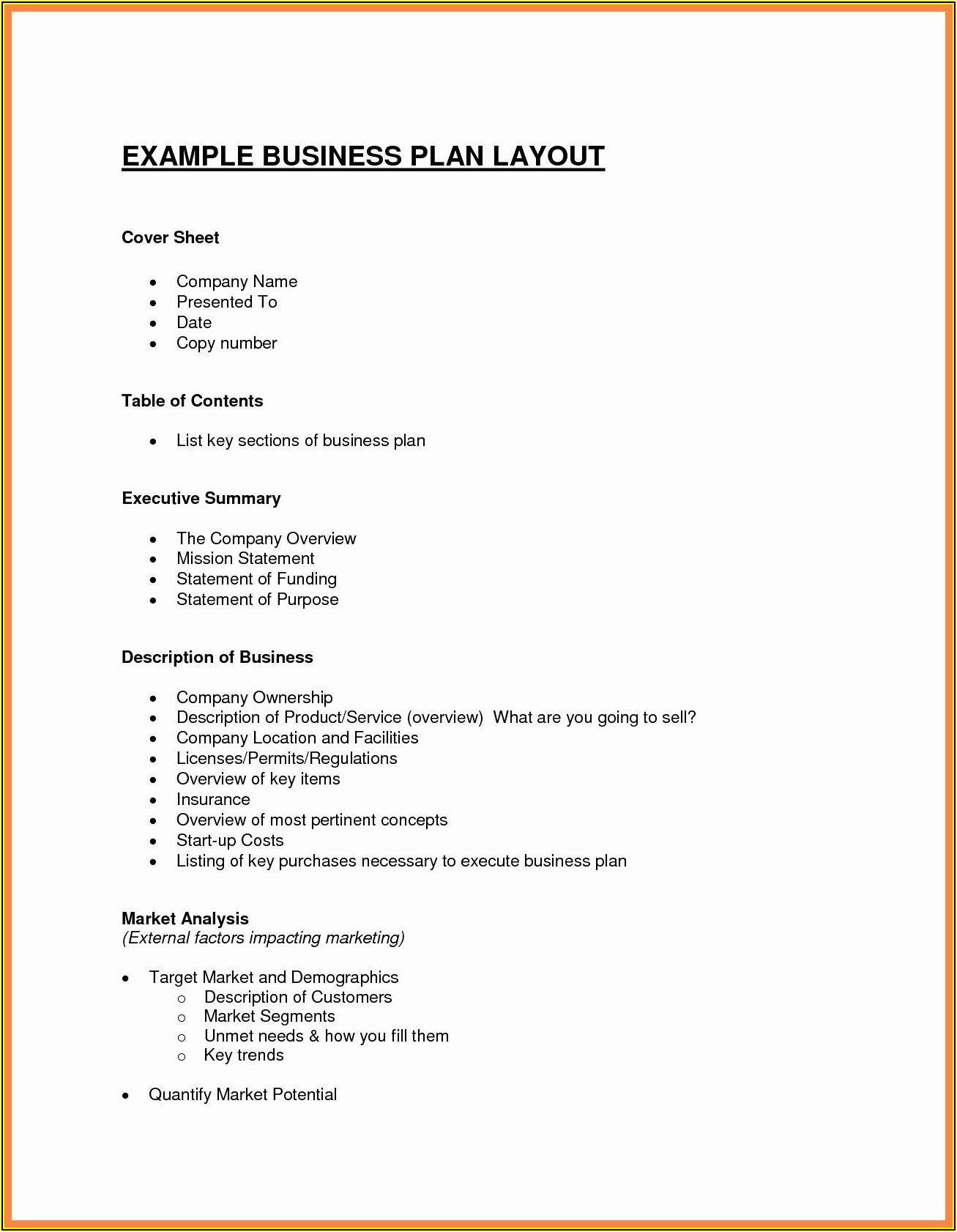 Hair Salon Business Plan Template Free