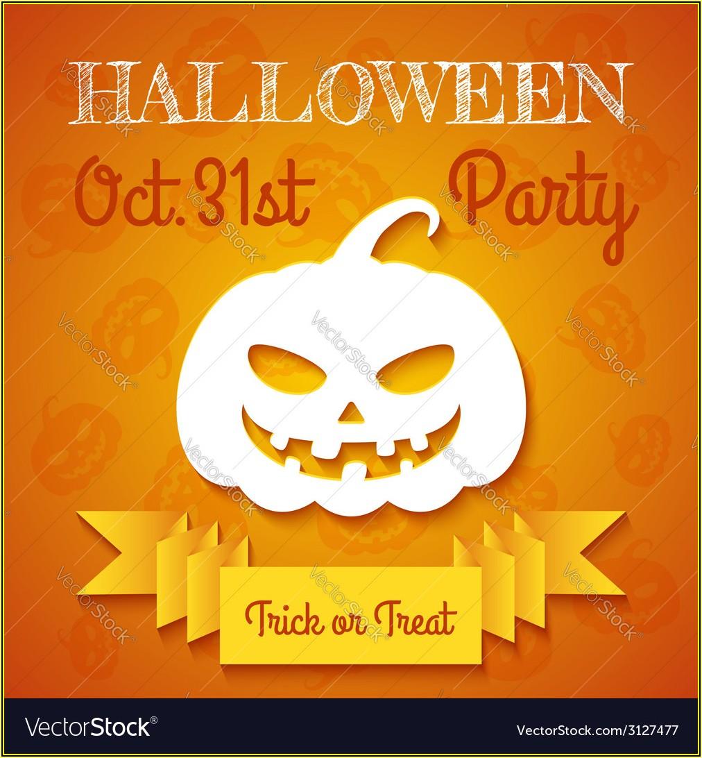 Halloween Party Flyer Template Illustrator