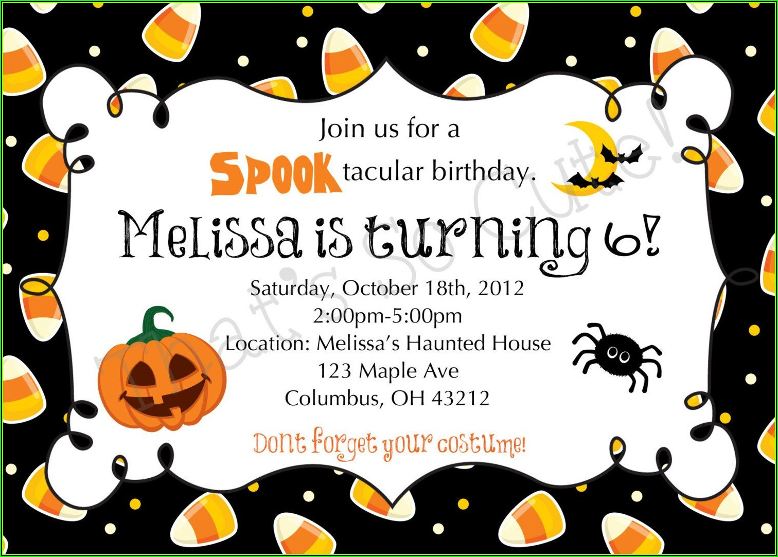 Halloween Party Invitation Template Printable