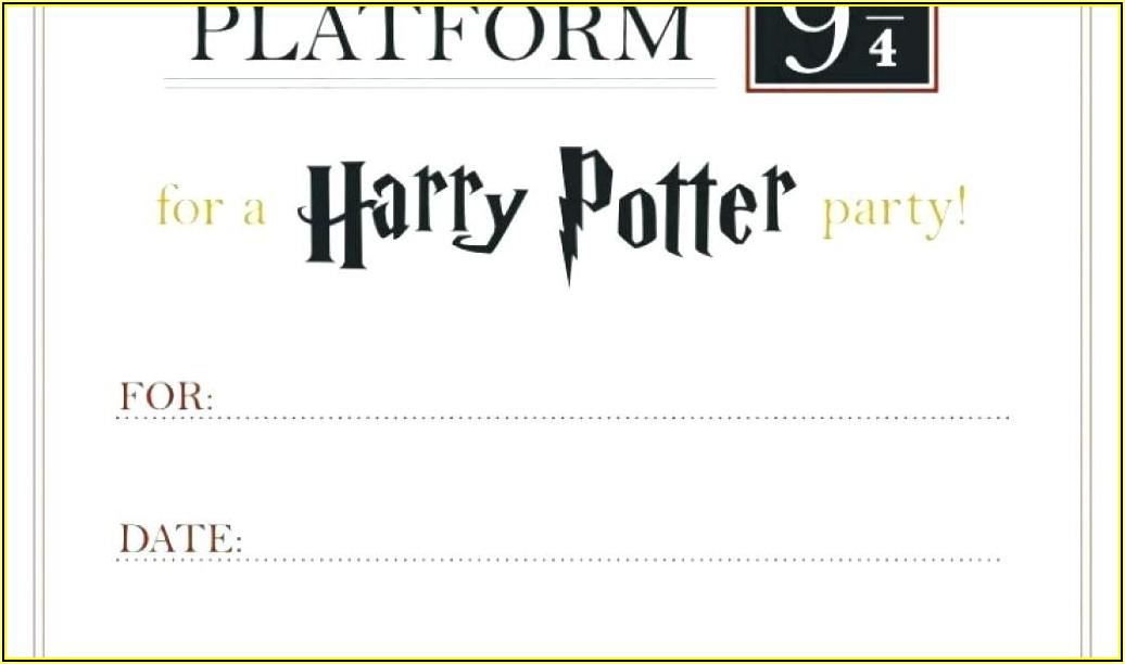 Harry Potter Birthday Invitation Template Free
