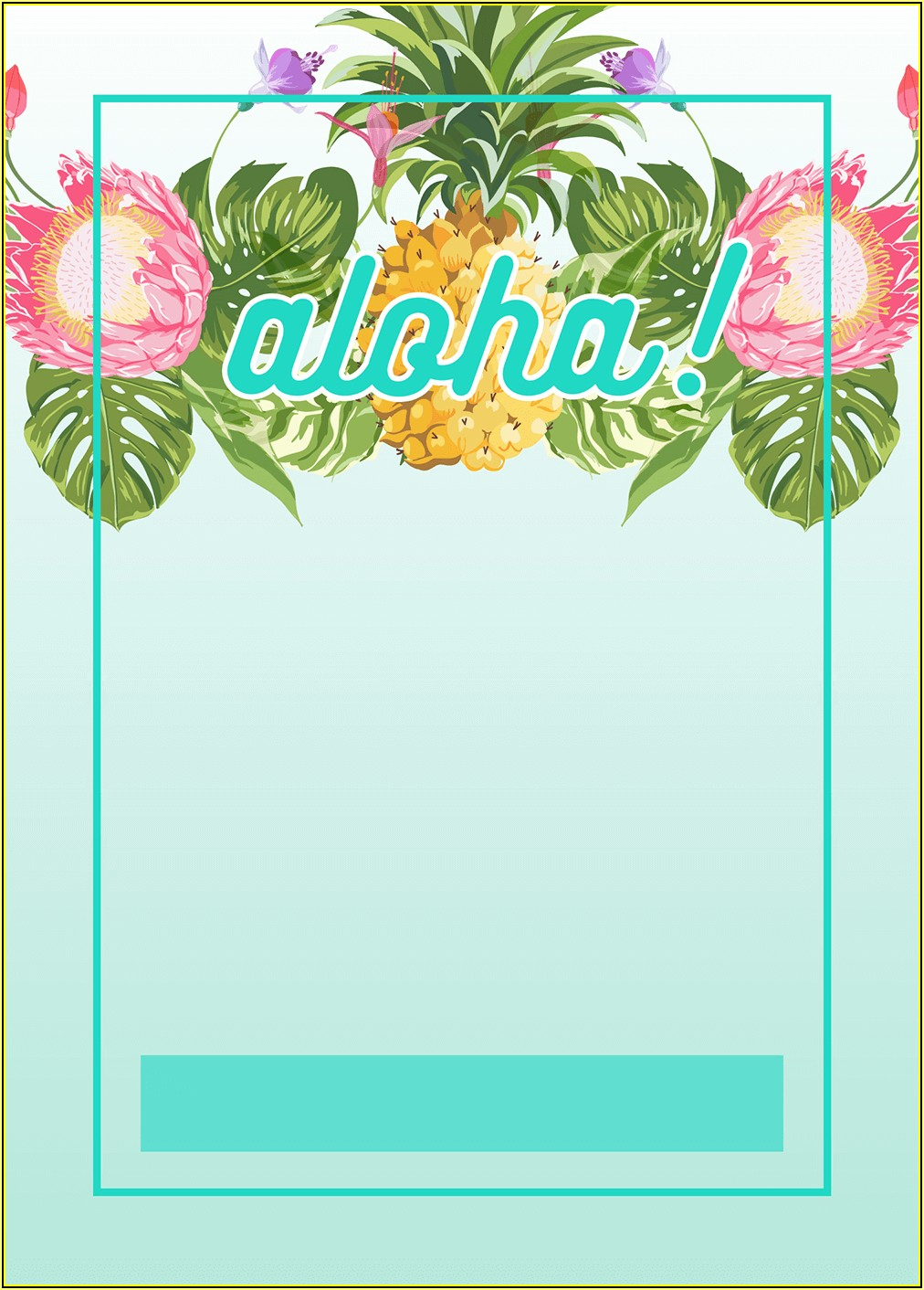 Hawaii Invitation Templates Free