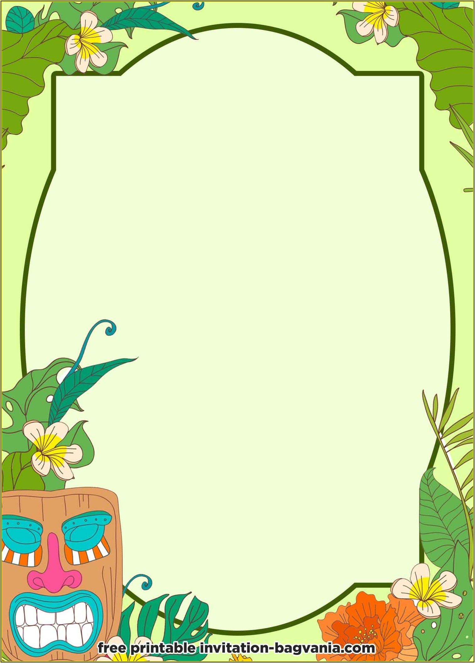 Hawaiian Invitations Templates Free