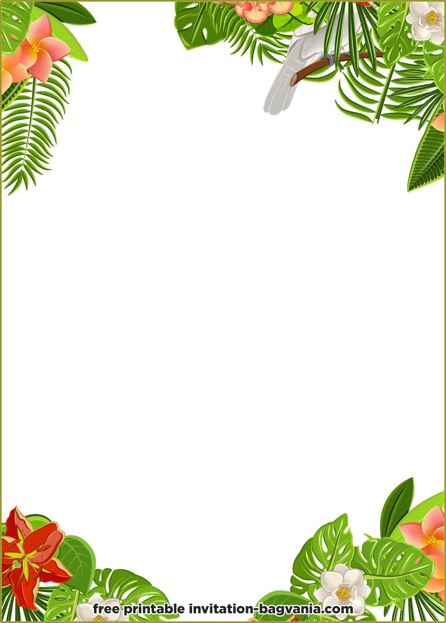 Hawaiian Party Invite Templates Free