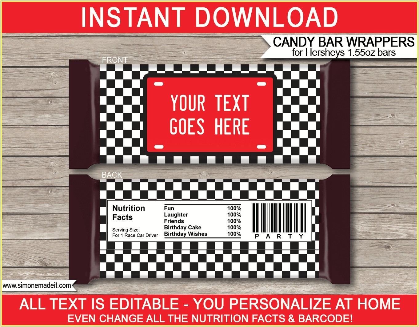 Hershey's Candy Bar Wrapper Template Microsoft Word