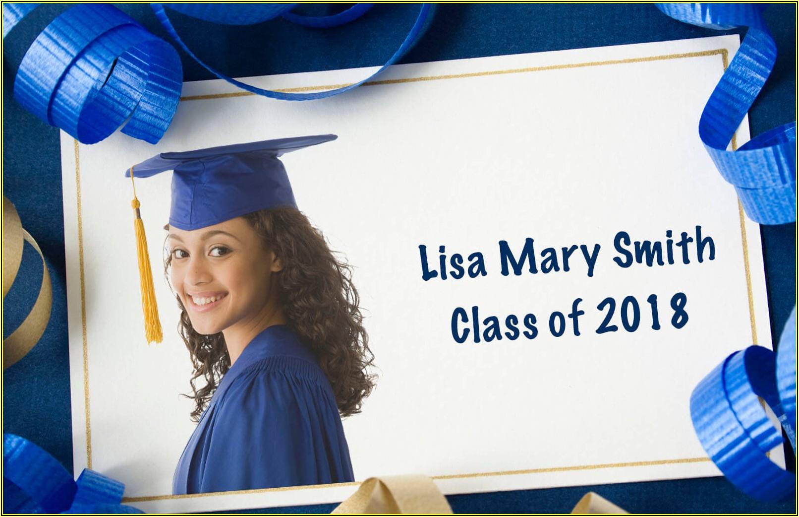 High School Graduation Announcements Templates Free