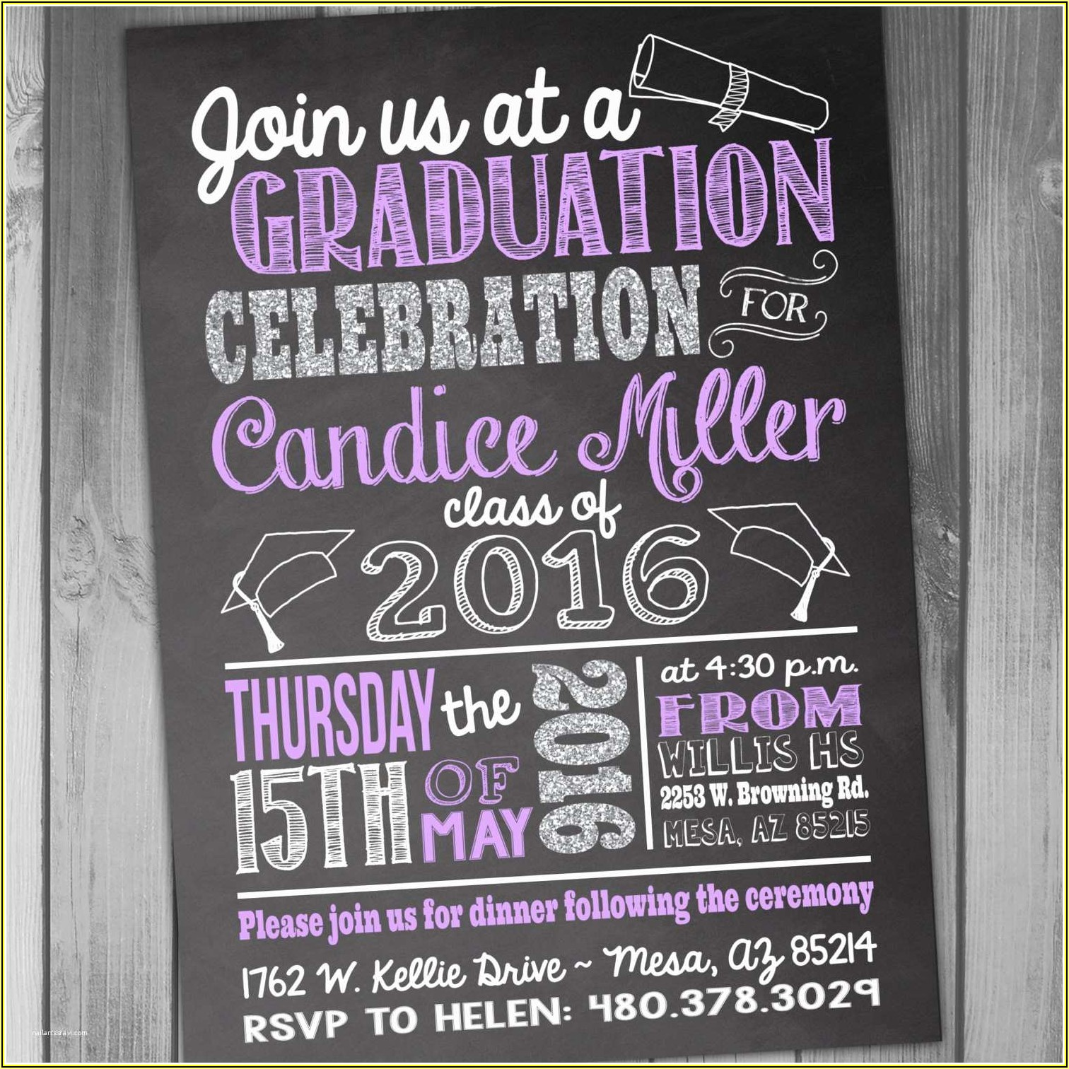 High School Graduation Invitations Free Templates