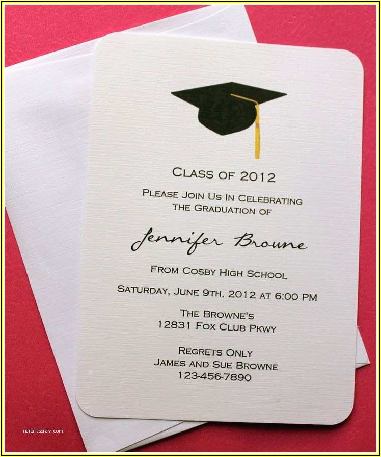 High School Graduation Invitations Templates