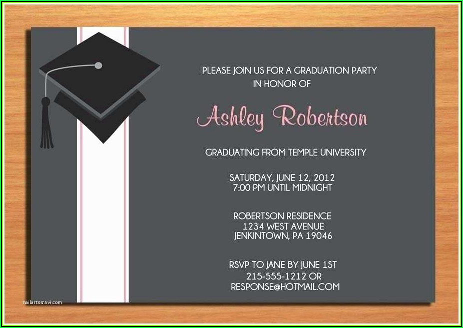 High School Graduation Party Invitation Templates