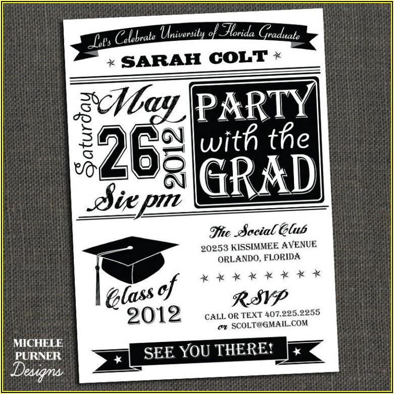 High School Graduation Party Invitations Templates