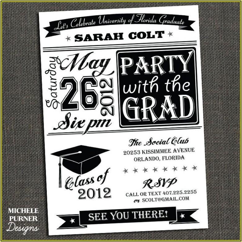 High School Graduation Party Invitations Templates