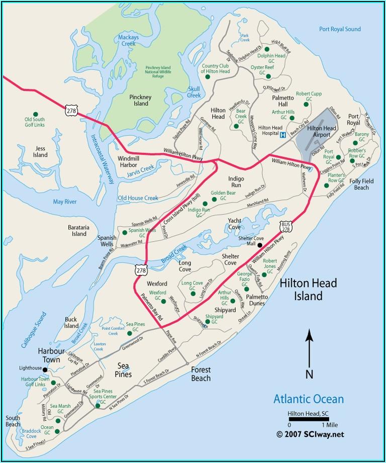 Hilton Head Island Map Pdf
