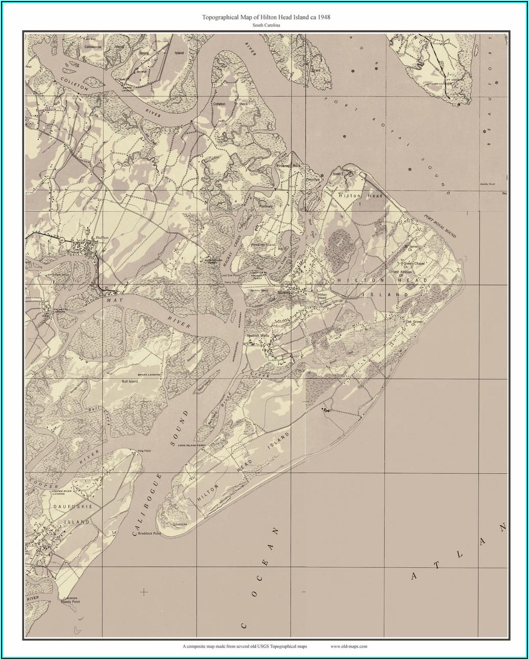 Hilton Head Island Map South Carolina