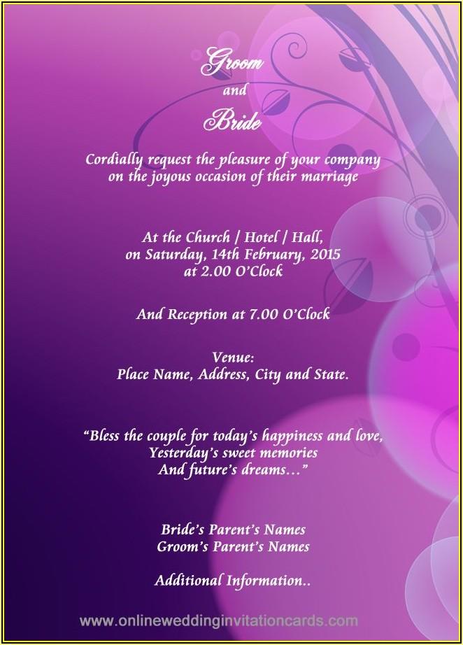Hindu Funeral Invitation Template Free Download