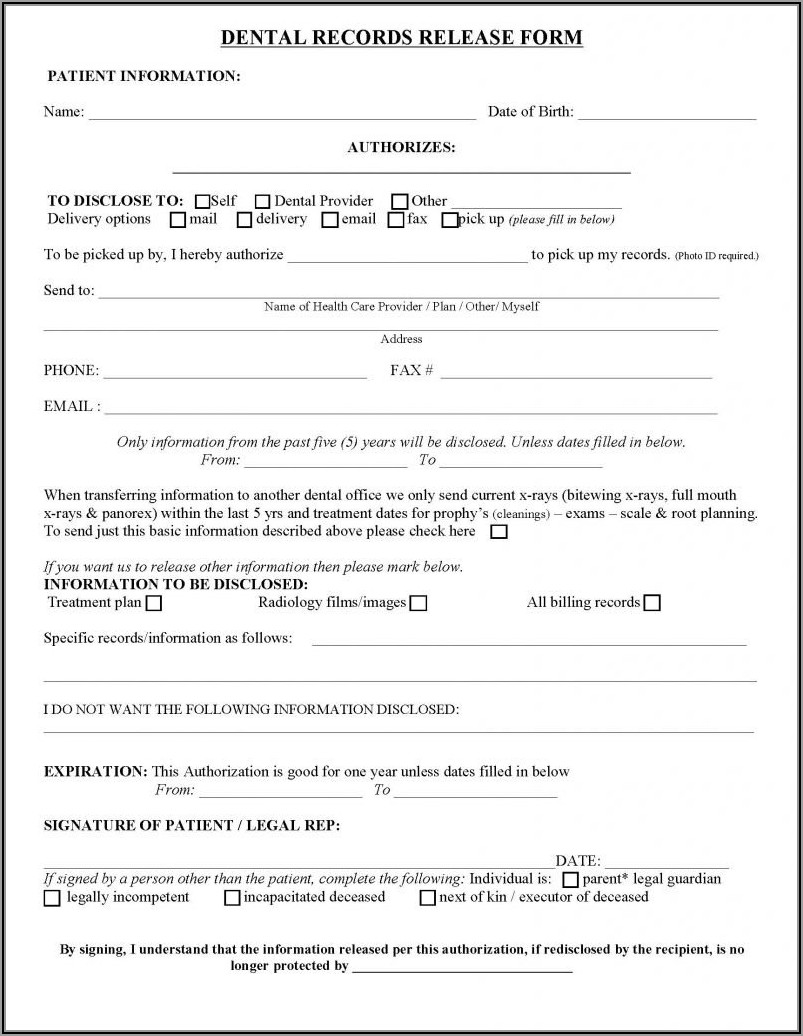 Hipaa Compliant Medical Records Release Form California