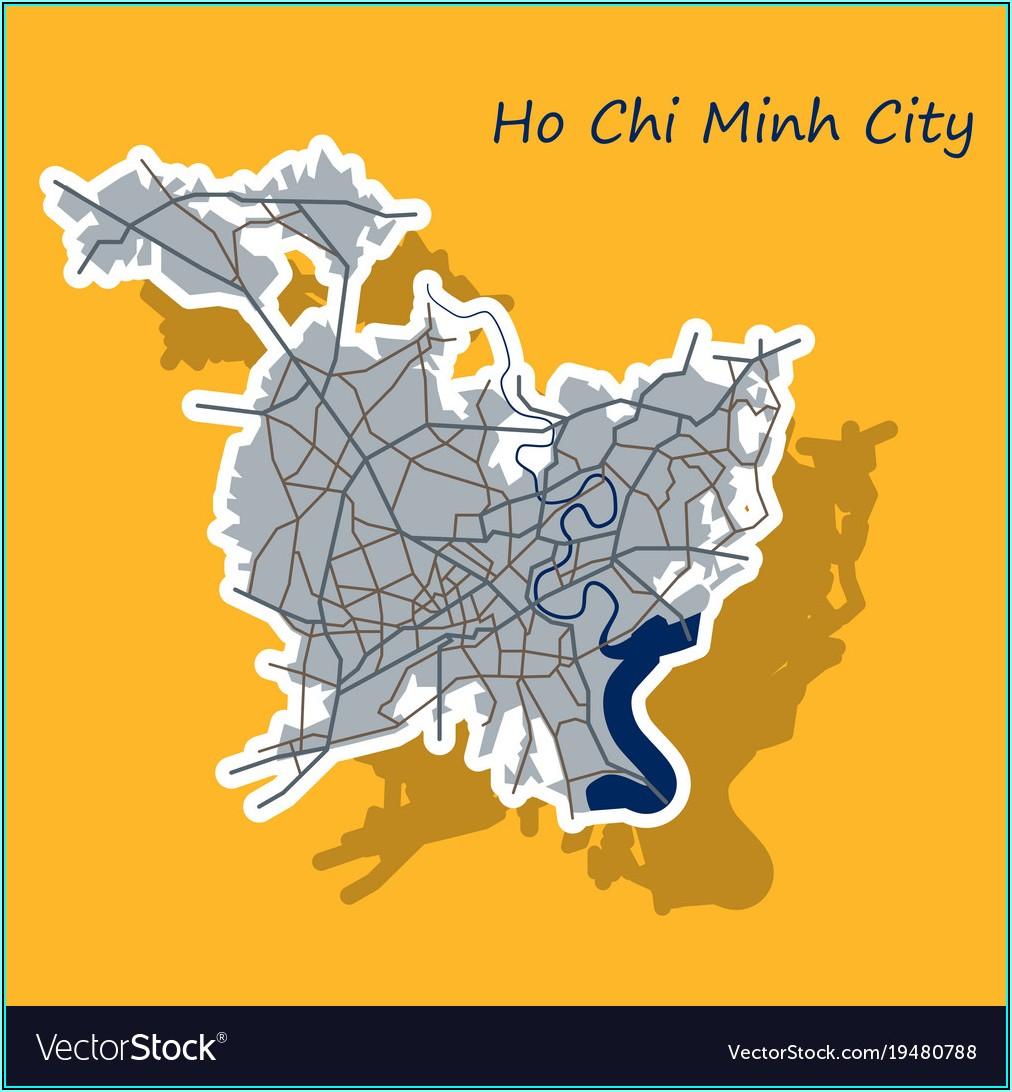 Ho Chi Minh City Map Vector