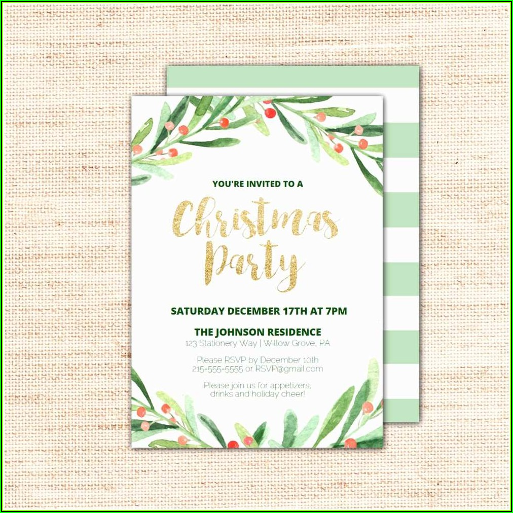 Holiday Party Invitation Template Printable