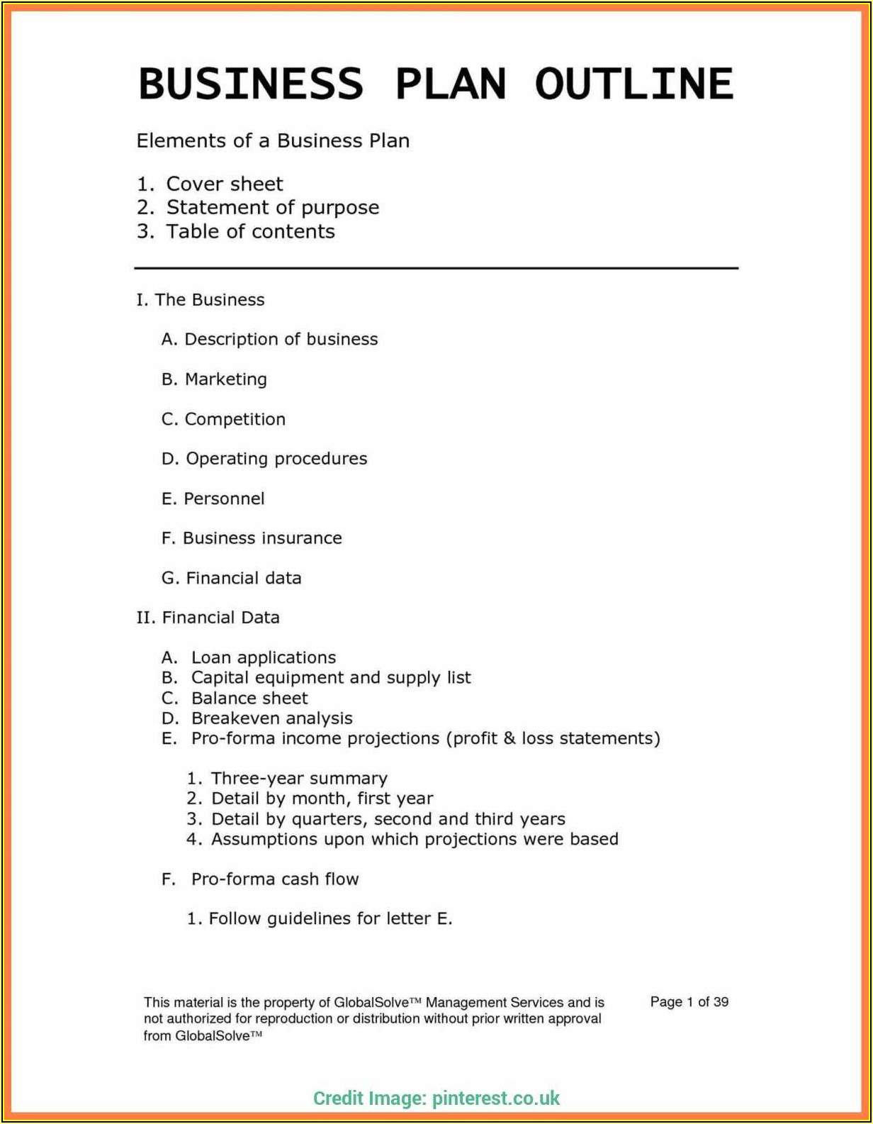 Home Daycare Business Plan Template