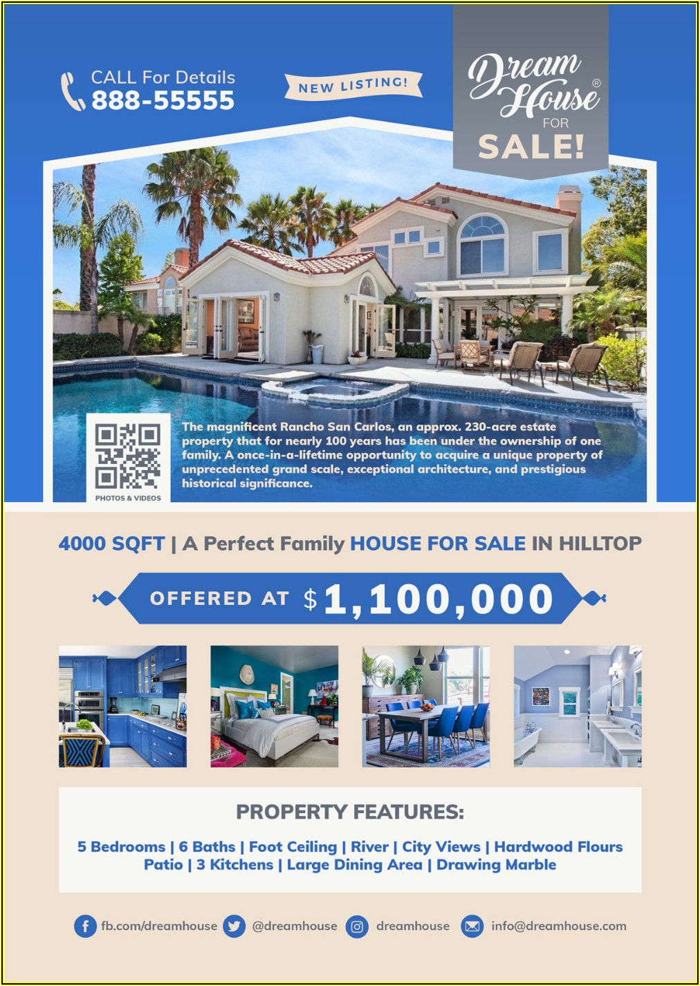 Homes For Sale Flyer Templates