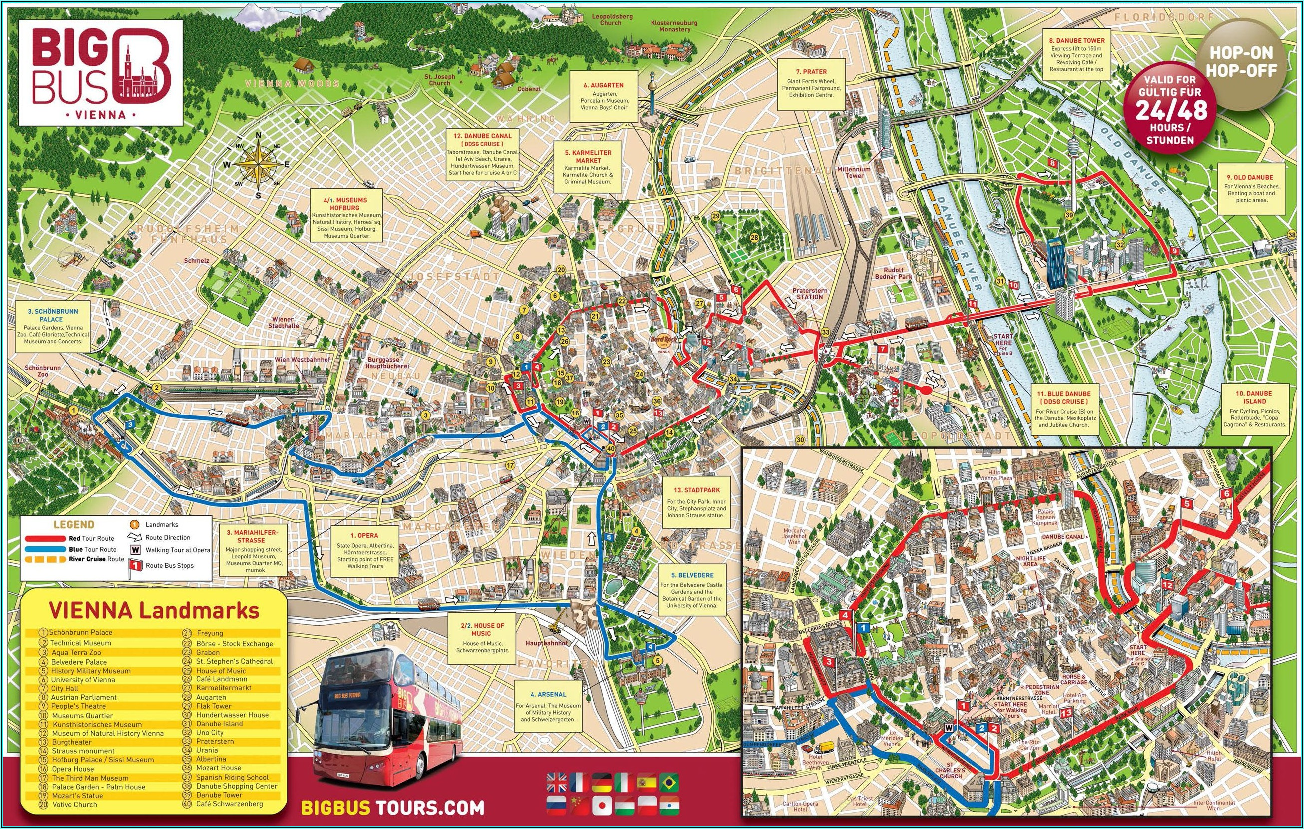 Hop On Hop Off Vienna Route Map