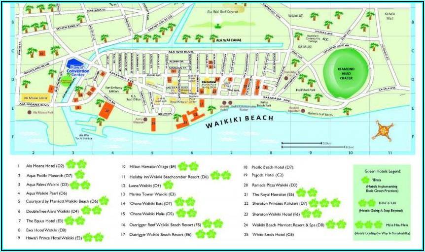 Hotels On Waikiki Beach Map