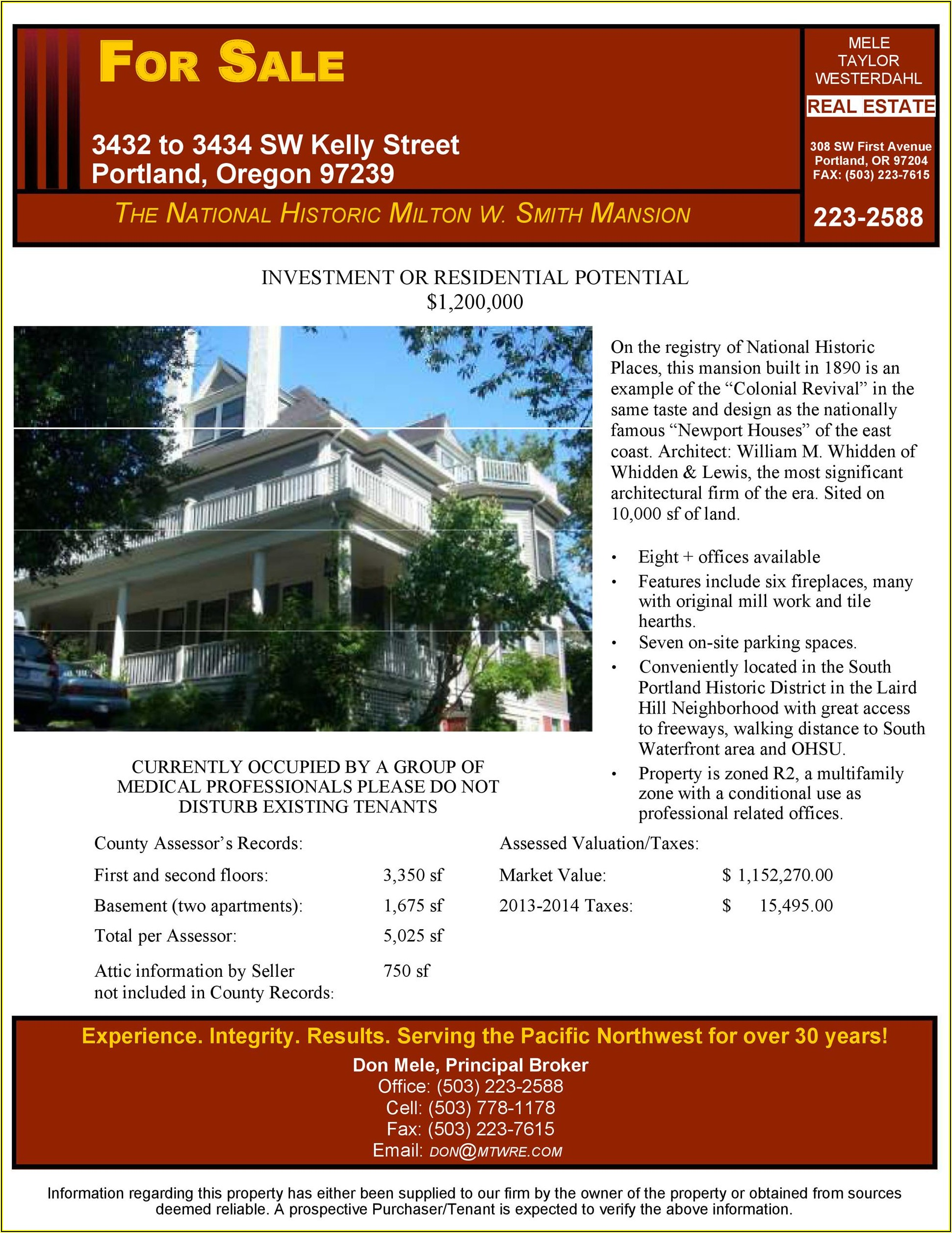House For Sale Flyer Example