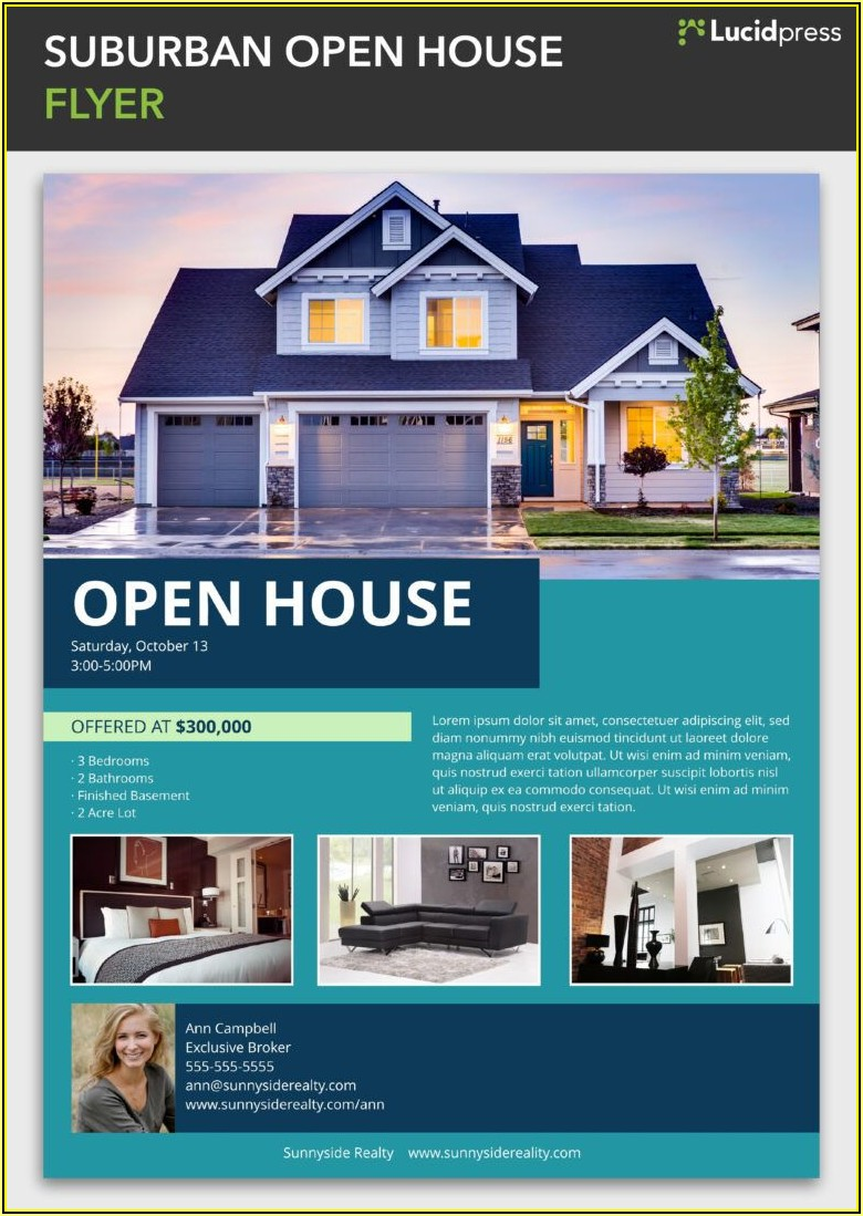 House For Sale Flyer Template By Owner