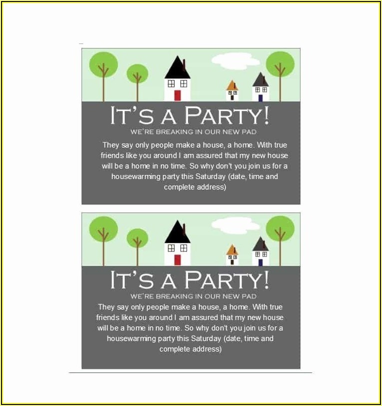 Housewarming Party Invitation Templates Free