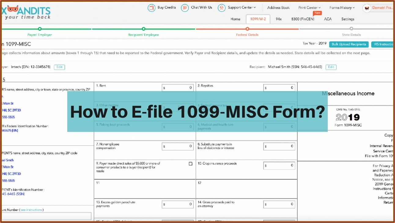 How To File Form 1099 Misc Online