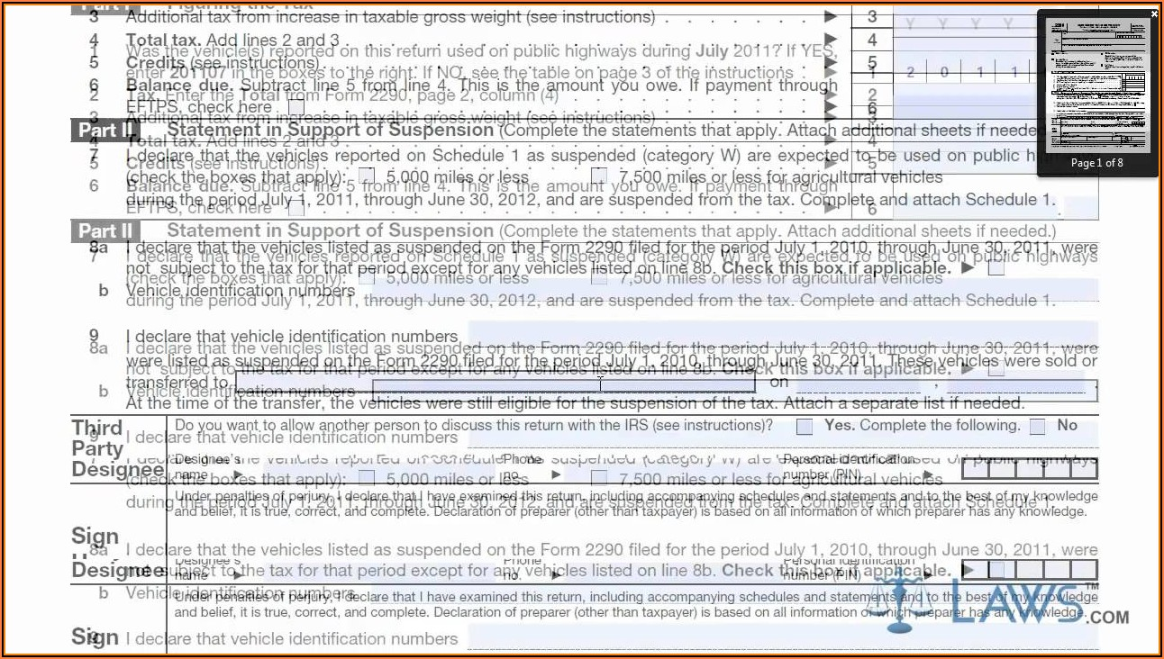 How To Fill 2290 Form