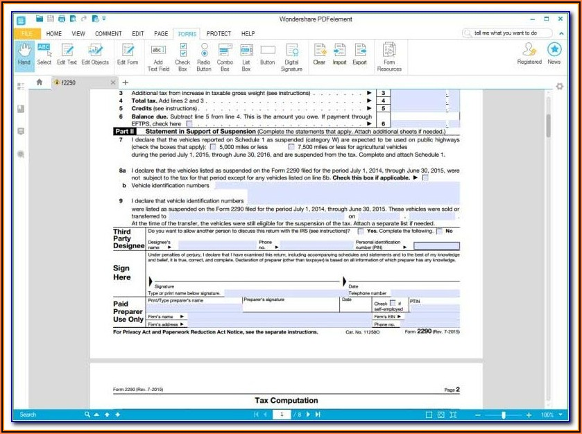 How To Fill Form 2290