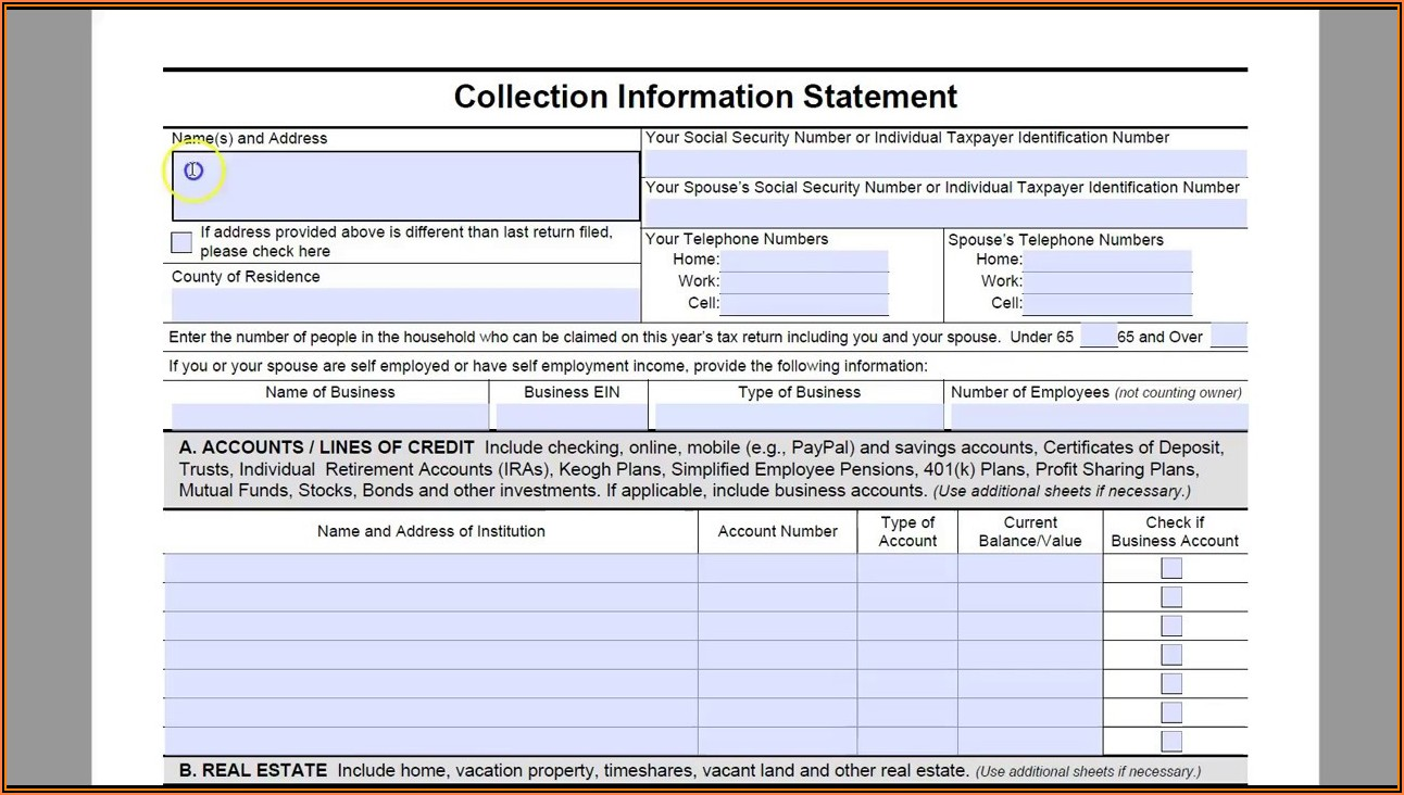 How To Fill Out Tax Form 433 D