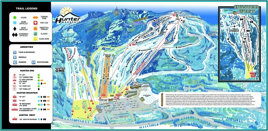 Hunter Mountain Ski Resort Map