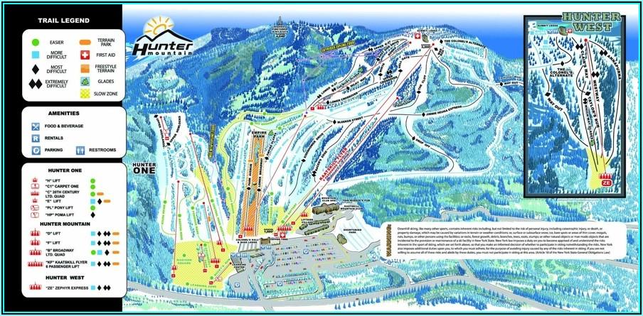 Hunter Mountain Ski Resort Map