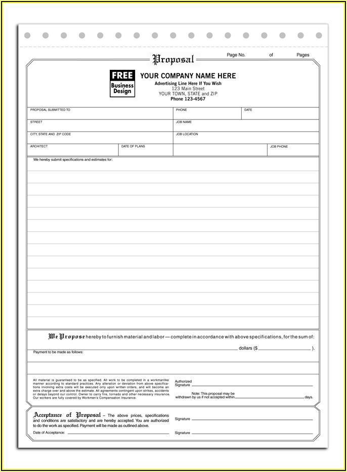Hvac Job Proposal Template