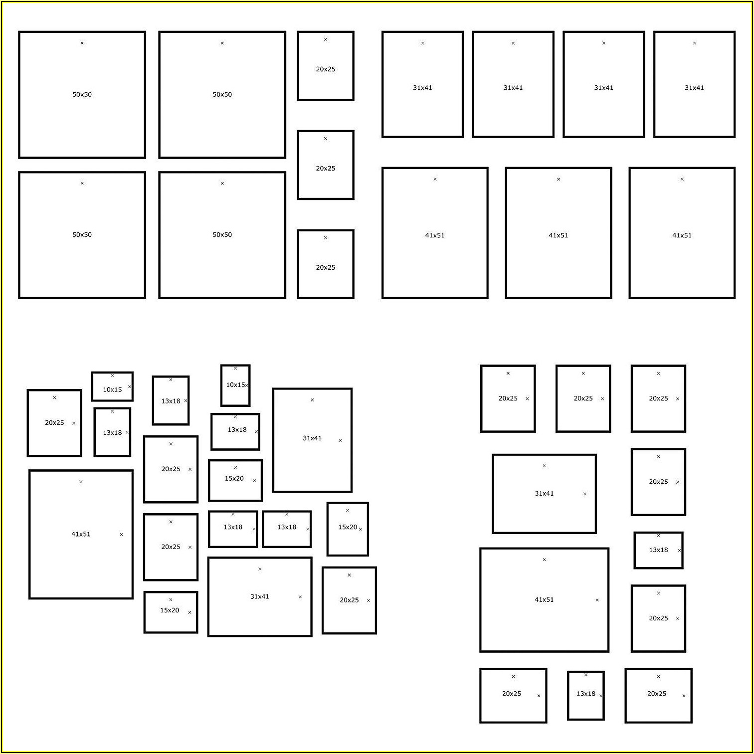 Ikea Wall Collage Template