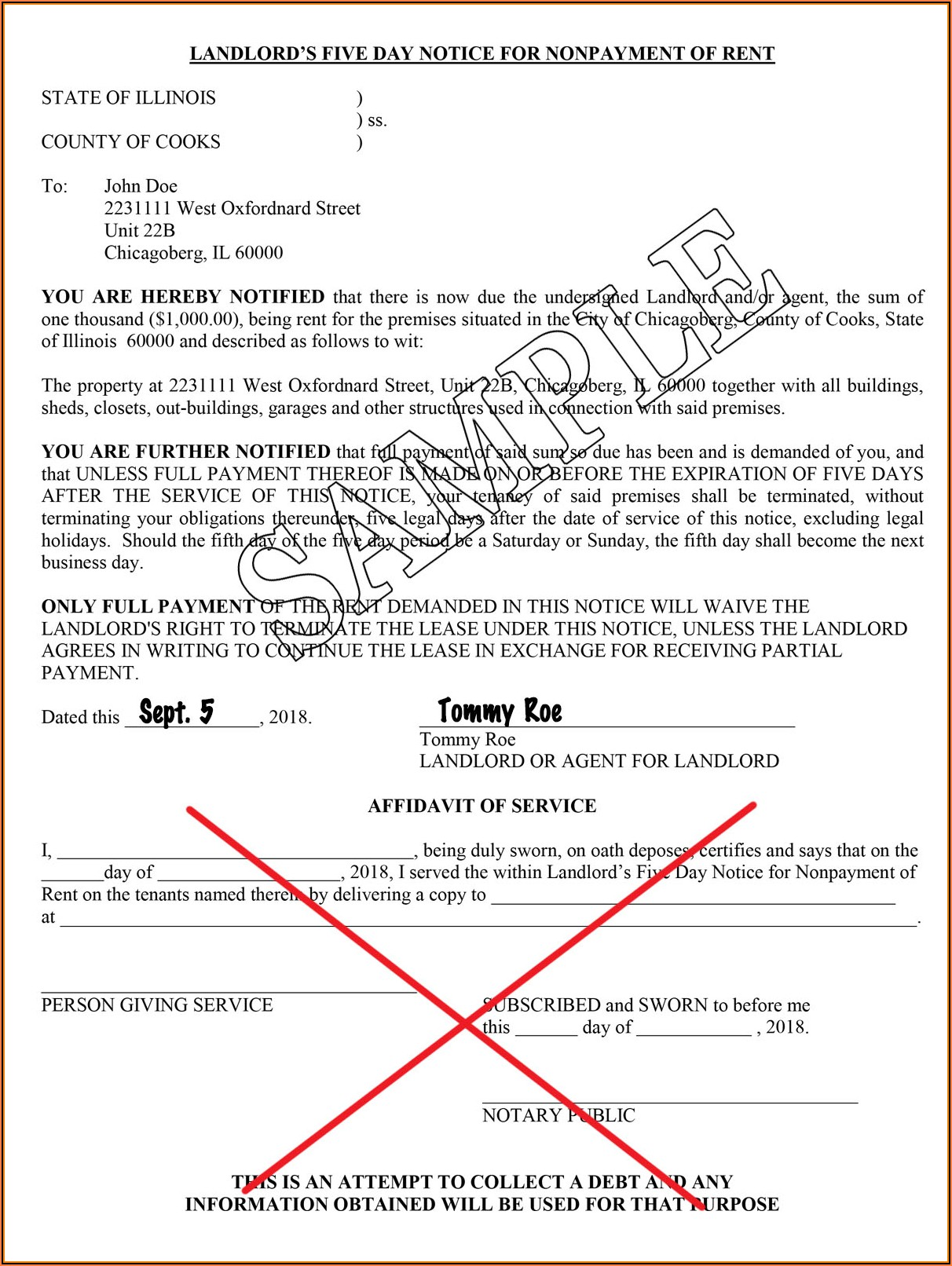 Illinois Quit Claim Deed Form Cook County