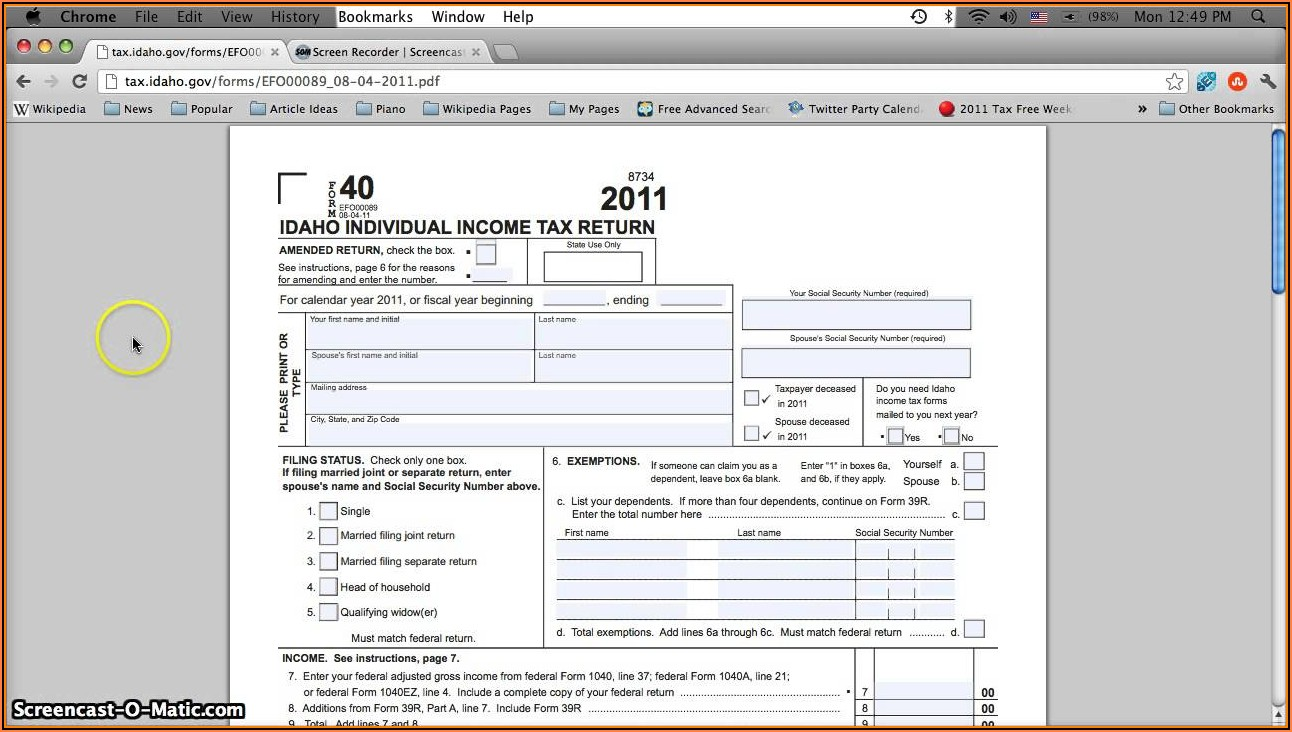 Income Tax Printable Forms