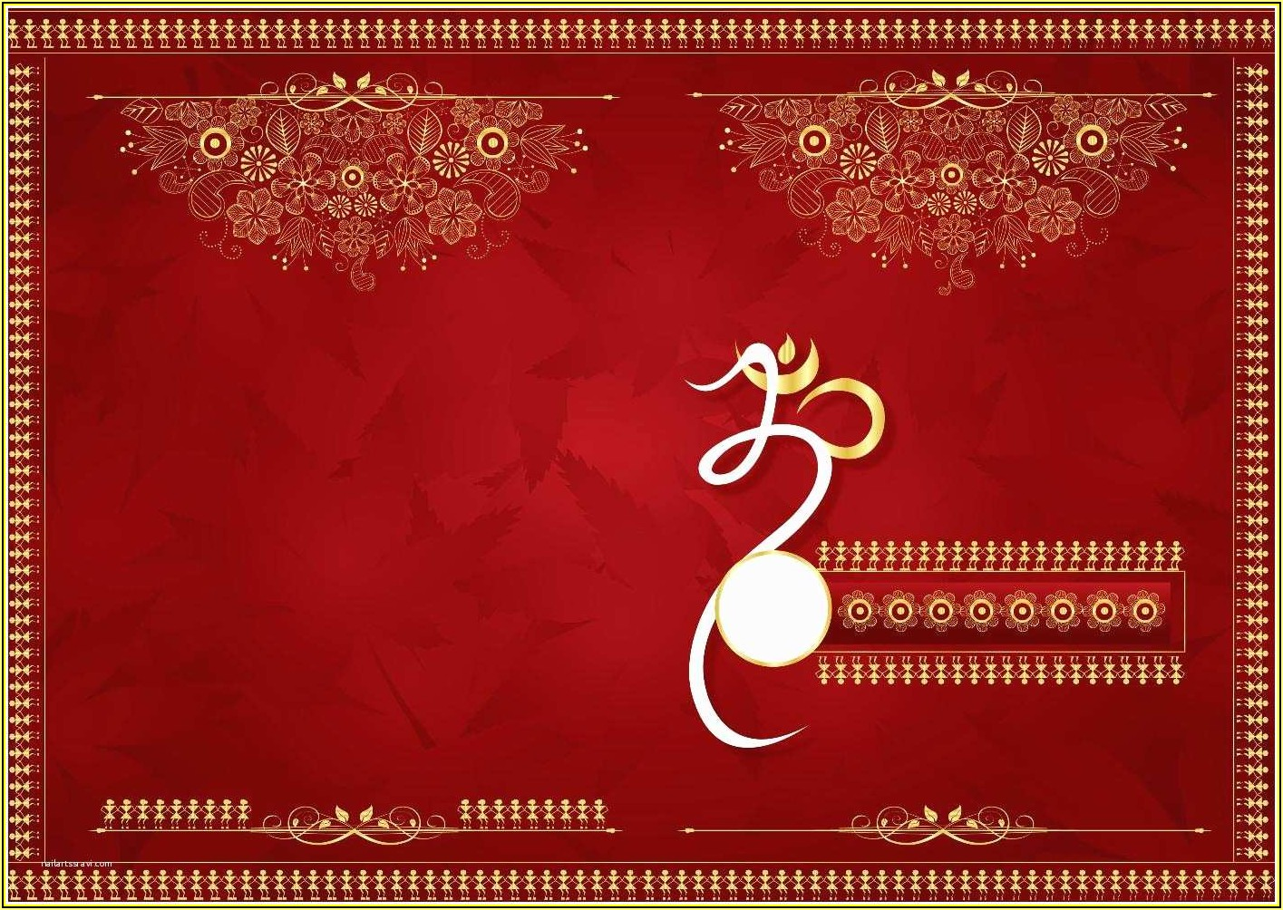 Indian Wedding Invitation Card Template Free Download