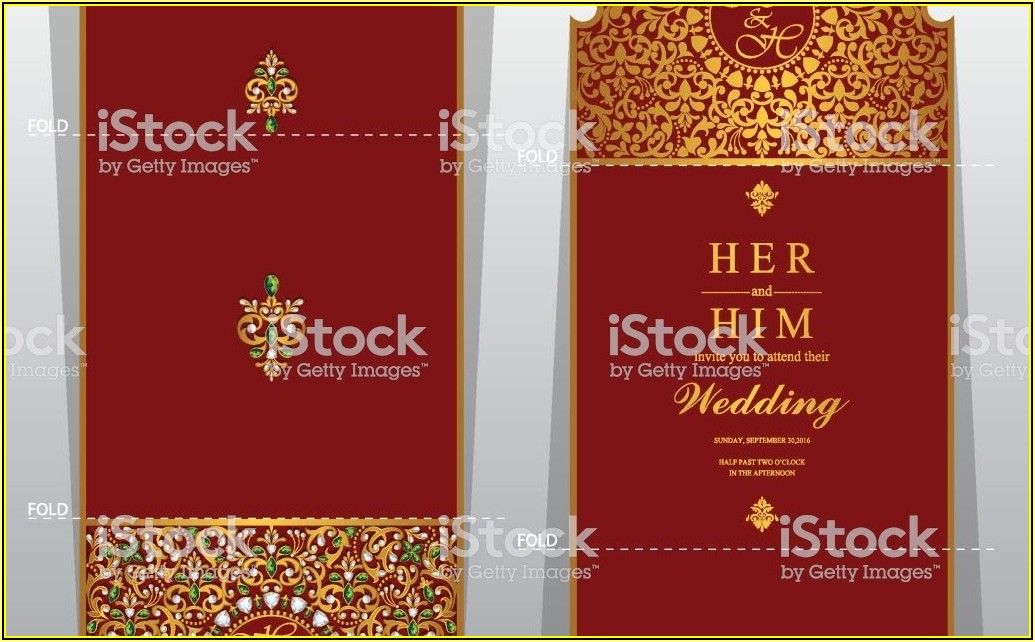 Indian Wedding Invitation Card Template Microsoft Word