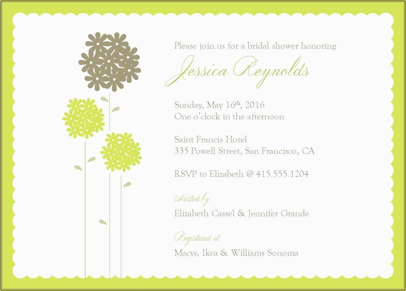 Indian Wedding Invitation Templates For Word