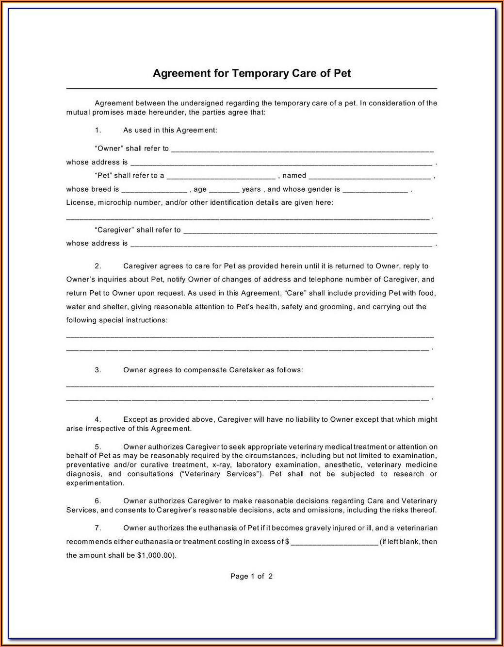 Indiana Temporary Child Custody Forms