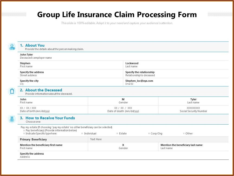 Insurance Claim Form Template